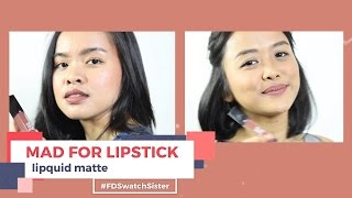 Mad For Lipstick| FD Swatch Sister
