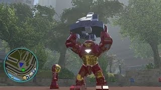 getlinkyoutube.com-LEGO Marvel Super Heroes - All Big-Fig Characters + Free Roam Gameplay