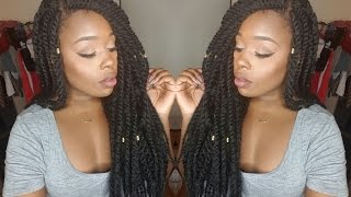 getlinkyoutube.com-Sensationnel Braided Lace Wig |Senegal Locks| Review