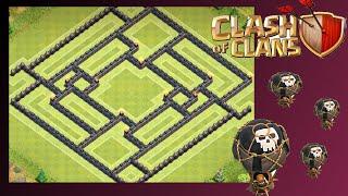 """getlinkyoutube.com-NEW TH10 Farm/Trophy Base """"ArrowCave"""" - Clash Of Clans (275 Walls)"""