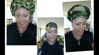 getlinkyoutube.com-Ankra Gele/How to tie Variety of Ankara Gele