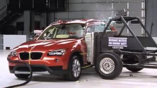 getlinkyoutube.com-IIHS - 2013 BMW X1 crash tests /moderate overlap /side/ small overlap/