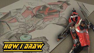 Kamen Rider Ghost (Musashi Damashii)-How I Draw