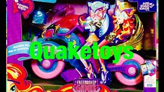 getlinkyoutube.com-New My Little Pony Equestria Girls Friendship Games Motocross Bike with Zapcode Wings!