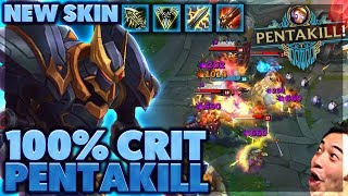 FASTEST PENTAKILL EVER | THIS NEW SKIN IS INSANE | 100% CRIT BLITZCRANK - BunnyFuFuu