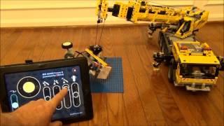 getlinkyoutube.com-Lego 42009 MKII crane with SBrick and iPad2