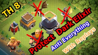 getlinkyoutube.com-Town Hall 8 (TH8) best Farming Base 2016 - Protect your Dark Elixir (Defense Replays)