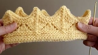 getlinkyoutube.com-KNIT ALONG - Knitted Crown For A Child