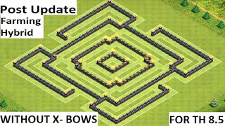 getlinkyoutube.com-POST UPDATE Town Hall 8.5 Farming/Hybrid Base WITHOUT X-Bows - Clash of Clans