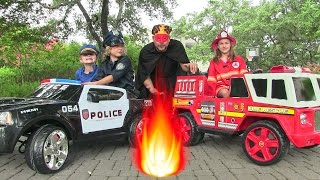 getlinkyoutube.com-Little Heroes 5 - The Cops, The Fire Engine and The Return of The Spark