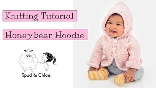 getlinkyoutube.com-Knitting Tutorial - Spud & Chloë Honeybear Hoodie
