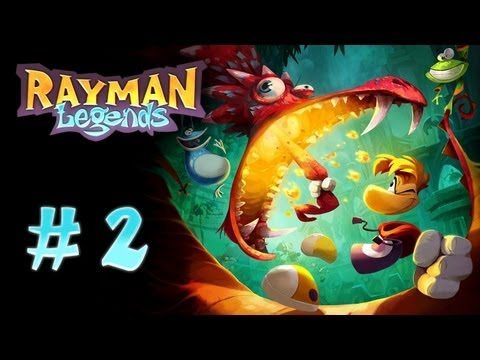 Let's Play: Rayman Legends Part 2 - The Old Spanking Move