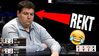 QUADS vs. FULL HOUSE! Shaun Deeb Gets Destroyed ($50k Heads Up)
