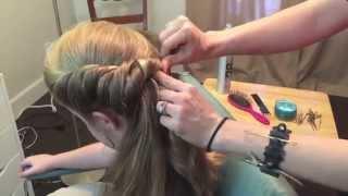 getlinkyoutube.com-Frozen Elsa's Coronation hair, Disney styles