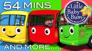 getlinkyoutube.com-Wheels On The Bus | Plus Lots More Nursery Rhymes | 54 Minutes Compilation from LittleBabyBum!