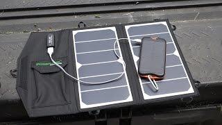 getlinkyoutube.com-Poweradd High Efficiency 14W Foldable Solar Panel Unboxing