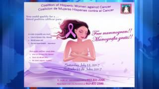 Coalición de Mujeres Hispanas contra el Cáncer harán mamografías gratis.