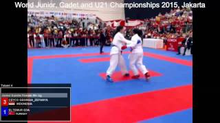 getlinkyoutube.com-Ceyco Georgia Zefanya vs  Eltemur Eda _ Karate World Championships 2015 _  Kumite
