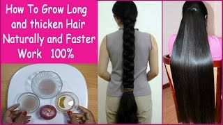How To Grow Long and thicken Hair Naturally and Faster 100% Work (Hair Growth Treatment)