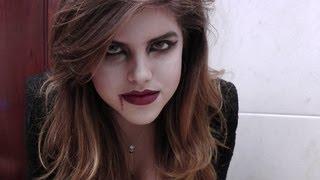 getlinkyoutube.com-♥Make + penteado VAMPIRA - Halloween - Dia das Bruxas