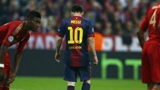 getlinkyoutube.com-La peor noche en la carrera de Messi | Bayern 4 - Barcelona 0 | HD 2013