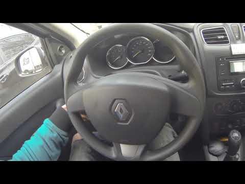 Как снять руль Renault Logan
