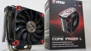 getlinkyoutube.com-MSI Core Frozr L CPU Cooler Installation, i7 6700K OC and Test