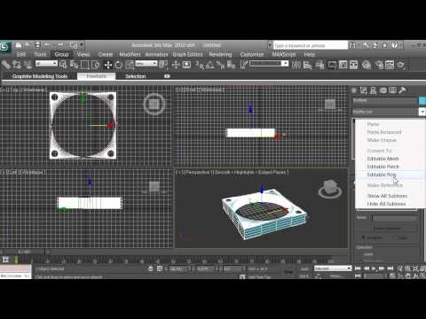 3D Modeling - Computer Fan Tutorial - Beginners - 3ds max - pt 6 of 16
