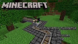 Thaumcraft/Automagy Rail Transport System