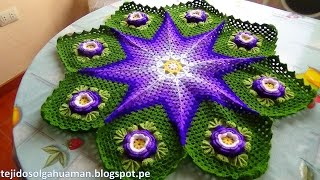 getlinkyoutube.com-Tapete o Carpeta tejido a crochet paso a paso video 2