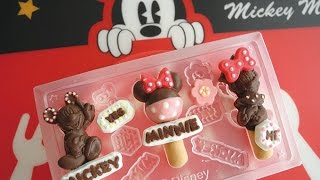 getlinkyoutube.com-Disney【Pastry chocolate kit】ディズニー パティシエ チョコレートキット