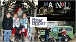 getlinkyoutube.com-CHRISTMAS AT HGTV FIXER UPPER MAGNOLIA SILOS | CHIP AND JOANNA | MET SANTA