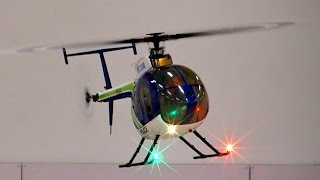 getlinkyoutube.com-RC Helicopter Hughes 500e 500er size Indoor Flight *1080p50fpsHD*