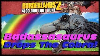 getlinkyoutube.com-Borderlands 2 Badassasaurus Rex Drops The Cobra Sniper! Get A Legitimate Cobra Sniper Rifle!