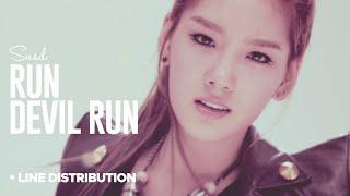 getlinkyoutube.com-SNSD - Run Devil Run: Line Distribution