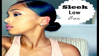 getlinkyoutube.com-SLEEK LOW BUN | NATURALLY CURLY HAIR