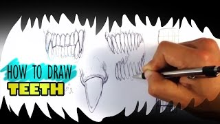 getlinkyoutube.com-How to Draw a Monster - Teeth - Easy Things to Draw