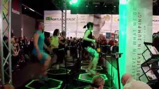 Fibo 2015 - Impressionen - Das Trampolin Power Workout