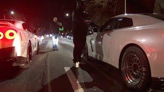 I-Streetrace-The-50000-Run-R35-Little-Nissan-GTR-VS-Cesers-Switzer-USE-Nissan-GTR width=