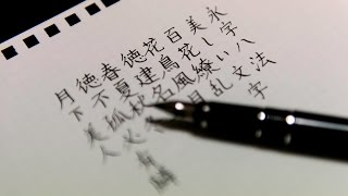 ASMR  ELABO (Namiki Falcon) Writing Japanese Calligraphy