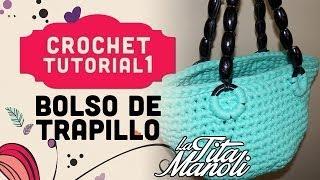 getlinkyoutube.com-Crochet - Bolso de trapillo