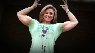 getlinkyoutube.com-Arm Training Tips - 8 Weeks Out Arnold Classic - Dani Reardon