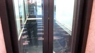 getlinkyoutube.com-Kone traction glass elevator at the Münster Arkaden in Münster