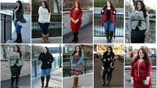 getlinkyoutube.com-Wide Calf Boots Lookbook [8 Full Outfits] | Plus Size Fashion