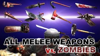 getlinkyoutube.com-Dead Trigger 2 All Melee Weapons Mk10 vs. Zombies HD