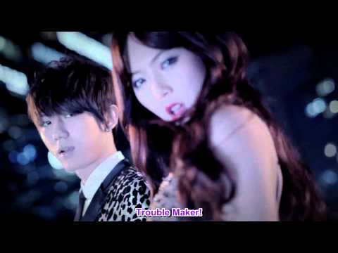 Hyuna & Jang Hyun Seung - Trouble Maker MV [english sub + romanization + hangul][HD][1080p]