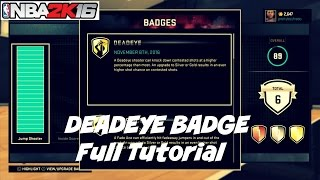 getlinkyoutube.com-NBA 2K16| Deadeye Badge in 2-4 Games full tutorial ! - Prettyboyfredo