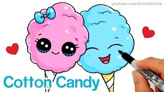 getlinkyoutube.com-How to Draw Cartoon Cotton Candy Cute and Easy Step by step