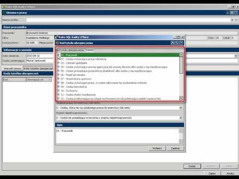 Dodawanie umowy o pracę programie RAKSSQL