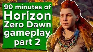 getlinkyoutube.com-90 minutes of Horizon Zero Dawn gameplay part 2 - Live stream